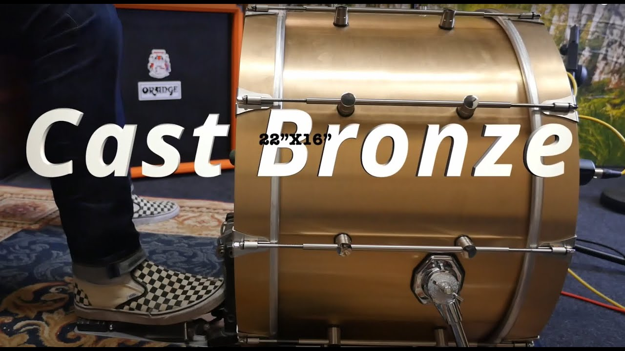 1 Kick 4 Beaters with a VK drums Cast Bronze Bassdrum (sound examples)