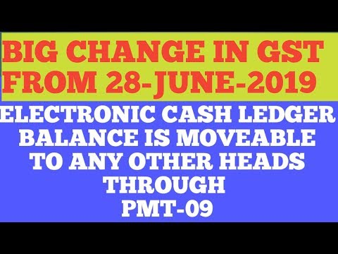 BIG NEWS/CHANGES IN GST / CHANGES IN ELECTRONIC CASH LEDGER AMOUNT USES  MOST AWAITED CHANGE