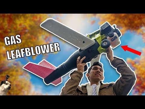 FLYING Leaf Blower RC Airplane Drone
