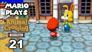 Bunny Day - Mario Plays ACCF #21 (Animal Crossing: City Folk)