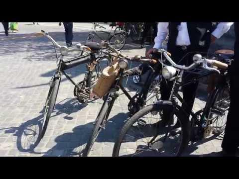Old school motorized bicycles from Prekmurje in the heart of Ljubljana