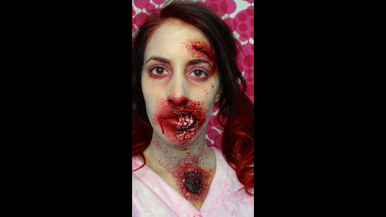 Tutoriel zombie cicatrice plaie ouverte maquillage d 39 halloween youtube - Maquillage cicatrice halloween ...