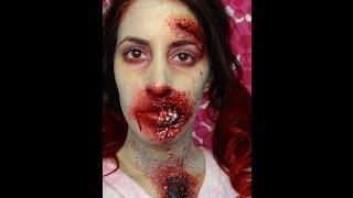 Tutoriel Zombie Cicatrice/Plaie Ouverte - Maquillage d'Halloween
