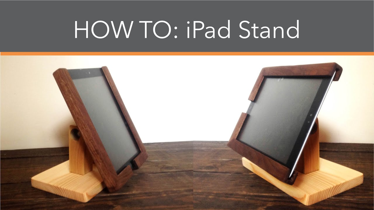 How to make an iPad stand - YouTube