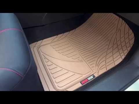Motor Trend Easy-Trim Rubber Floor Mats