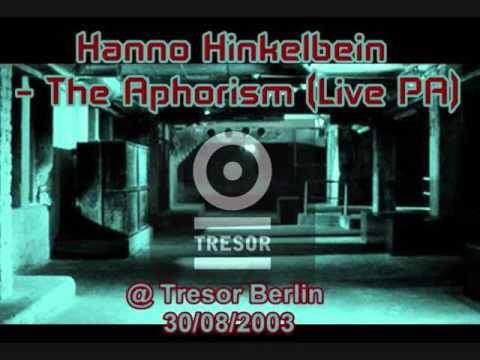Hanno Hinkelbein - The Aphorism (Live PA) @ Tresor Berlin - 30.08.2003