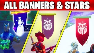 FORTNITE SEASON 8 ALL SECRET BATTLE STARS ET BANNERS LOCATIONS SEMAINE 1 À 8
