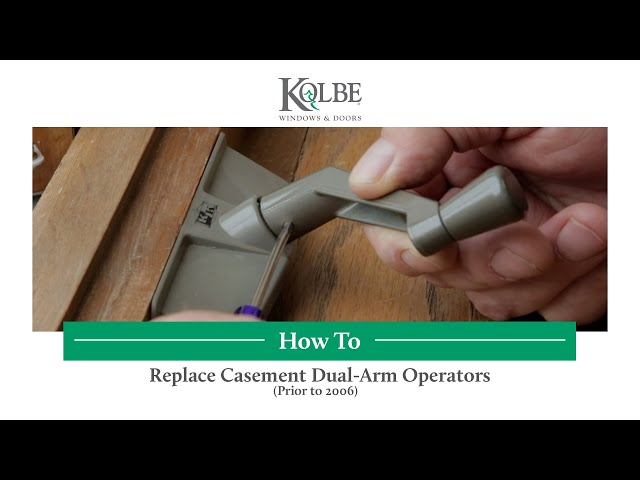 Replace Casement Dual-Arm Operators-Prior to 2006