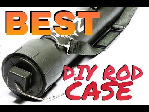 How to Make BEST DIY Homemade Rod Tube Case - EASY Build!