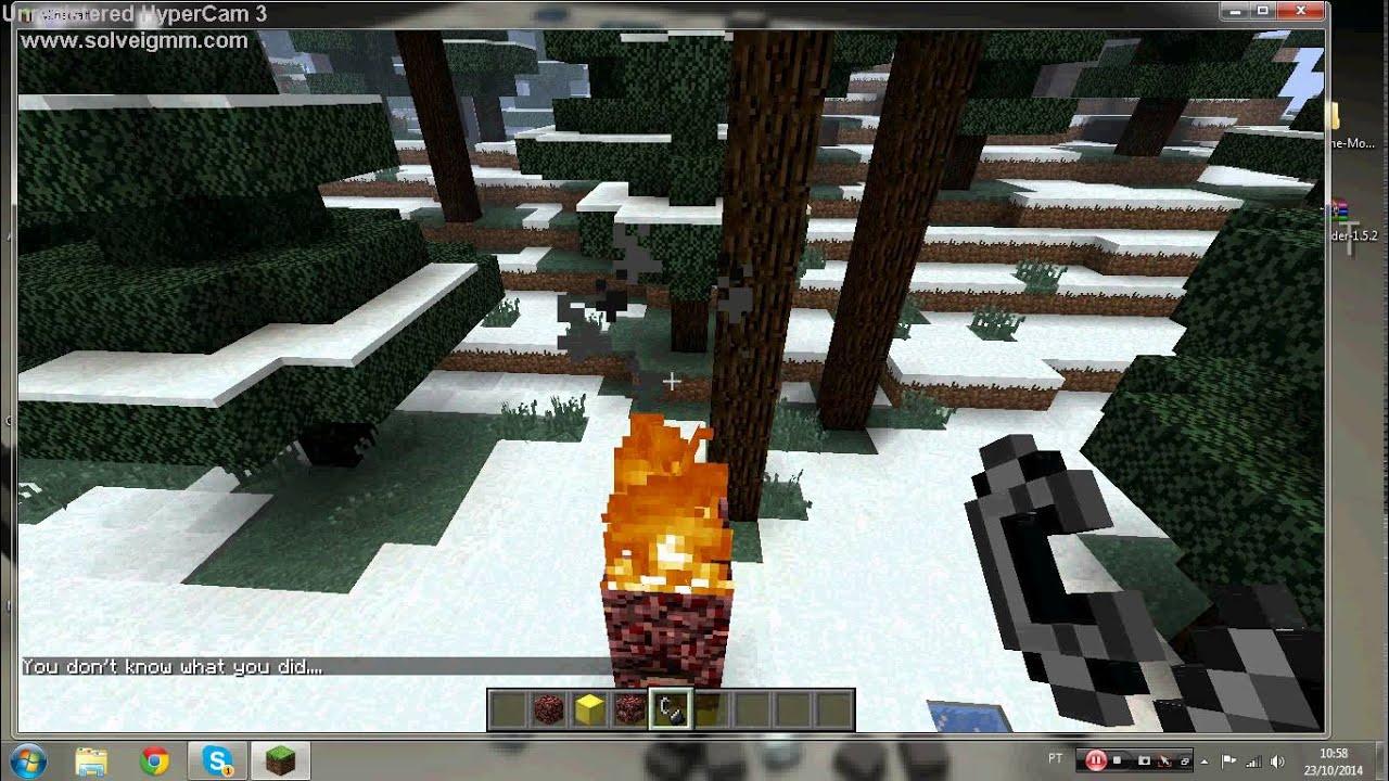 Como baixar e instalar o mod do herobrine no minecraft 1 5 2 youtube