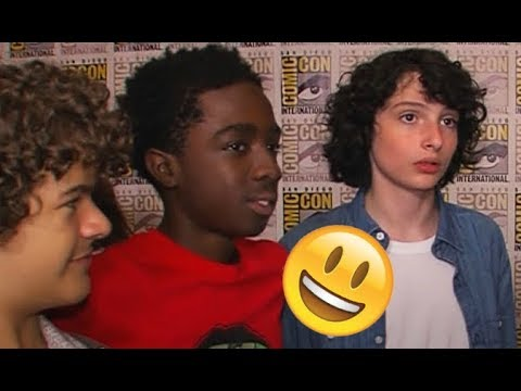 Stranger Things Cast 😊😊😊 - Finn, Millie, Noah and Gaten CUTE AND FUNNY MOMENTS 2018 #10