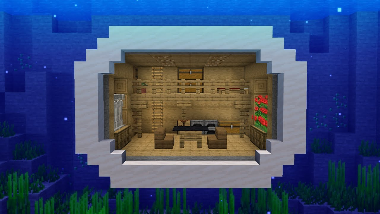 Minecraft - How to build an underwater mountain house