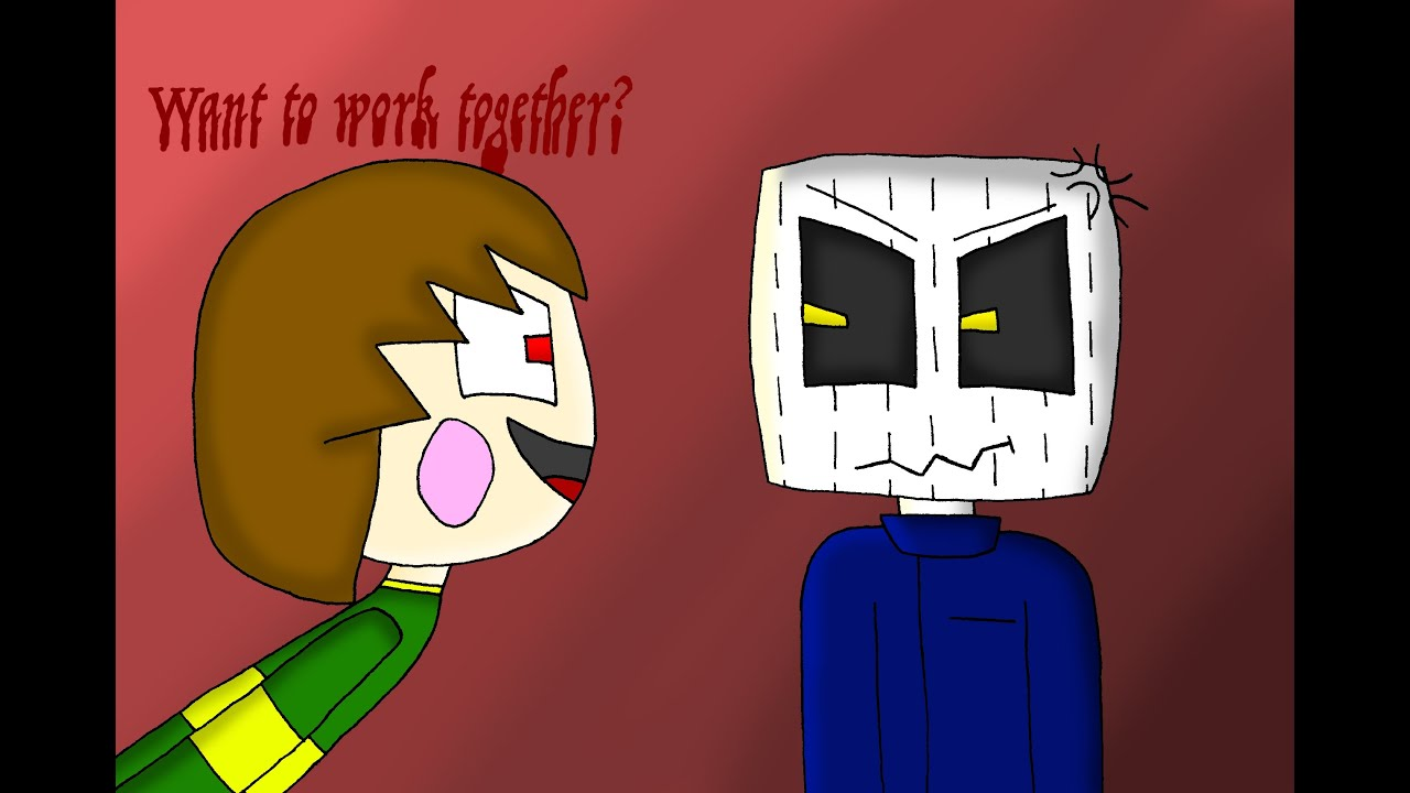Speed Art Chara Meets The White Pumpkin Minecraft Story Mode