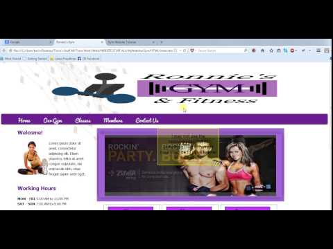 Create A Website, Html And Css Gym [part 1]