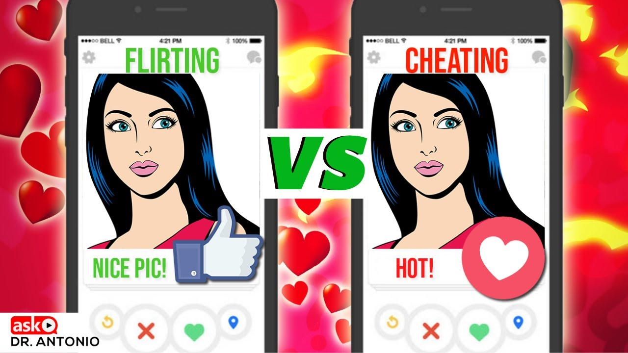 flirting vs cheating test cartoon video game