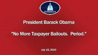 "President Obama Promises ""There Will Be No More Taxpayer Funded Bailouts. Period"""