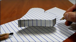 Draw a Floating Heart on Line Paper   3D Trick Art thumbnail
