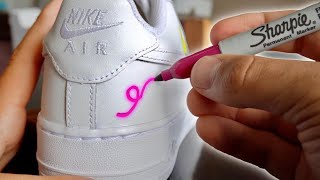 Custom SHARPIE AIR FORCE 1's!!! 👟🖊 (GIVEAWAY)