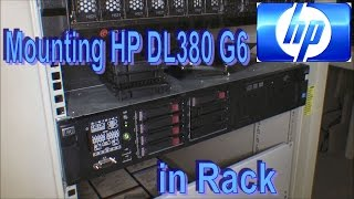 Rack mounting a HP DL380 G6 (To chek 3 HD s) - 165