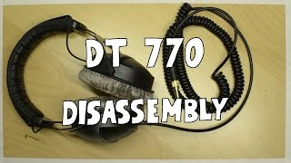 How to disassemble Beyerdynamic DT770 headphones
