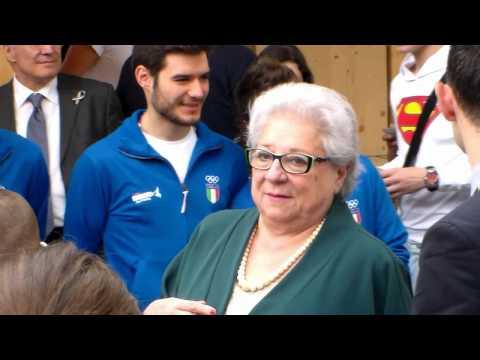 Livia POMODORO @ apertura Kinder Sport Milano Expo 4 maggio 2015