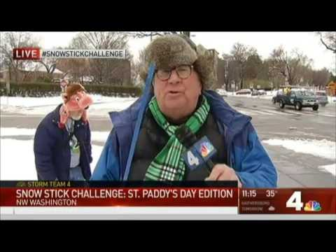 Pat Collins' Snow Stick Challenge  Celebrate St  Patrick's Day in the Snow