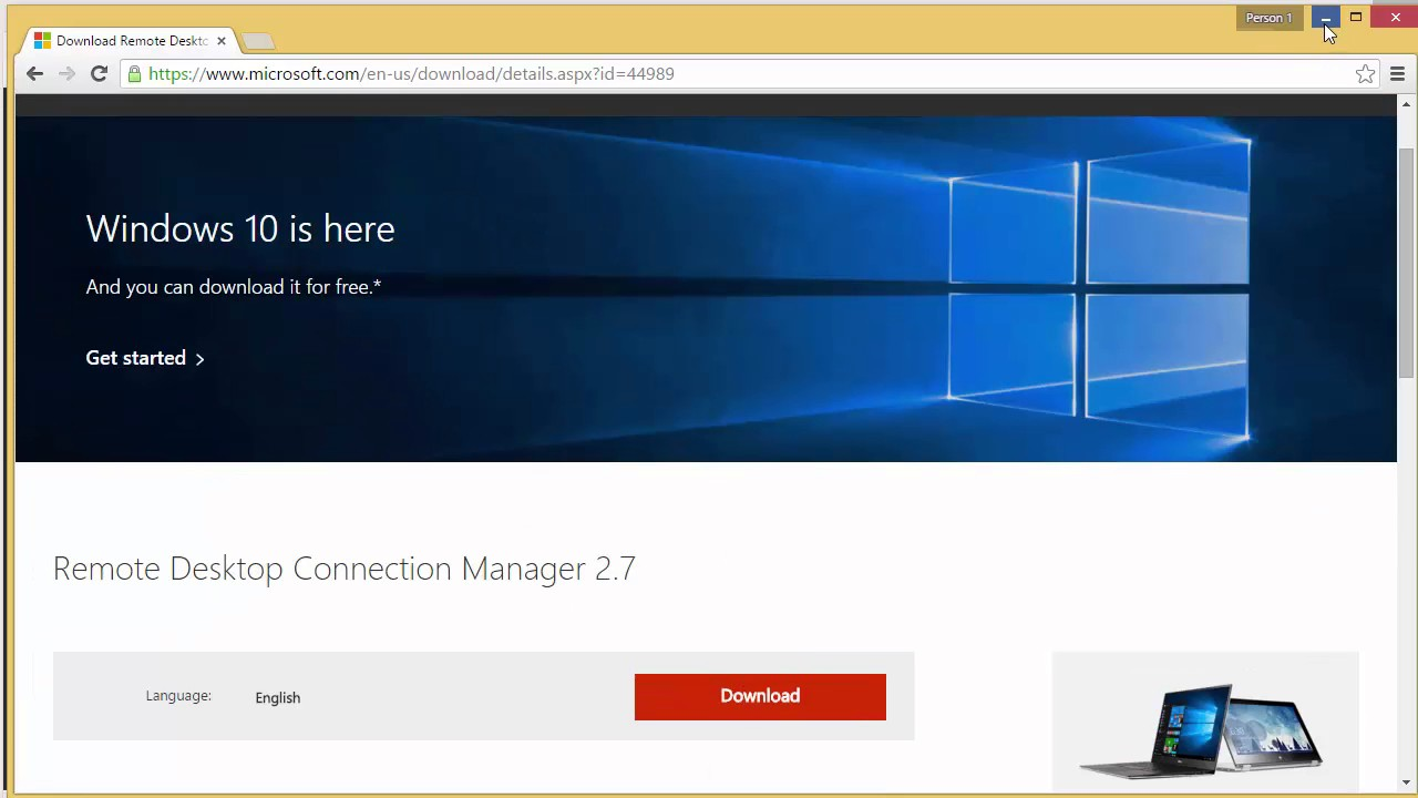 اداة WinRM و Remote Desktop Connection Manager