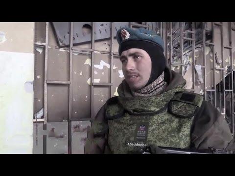 Ополченцы в старом терминале аэропорта Донецка после штурма. Ополчение Новороссии.