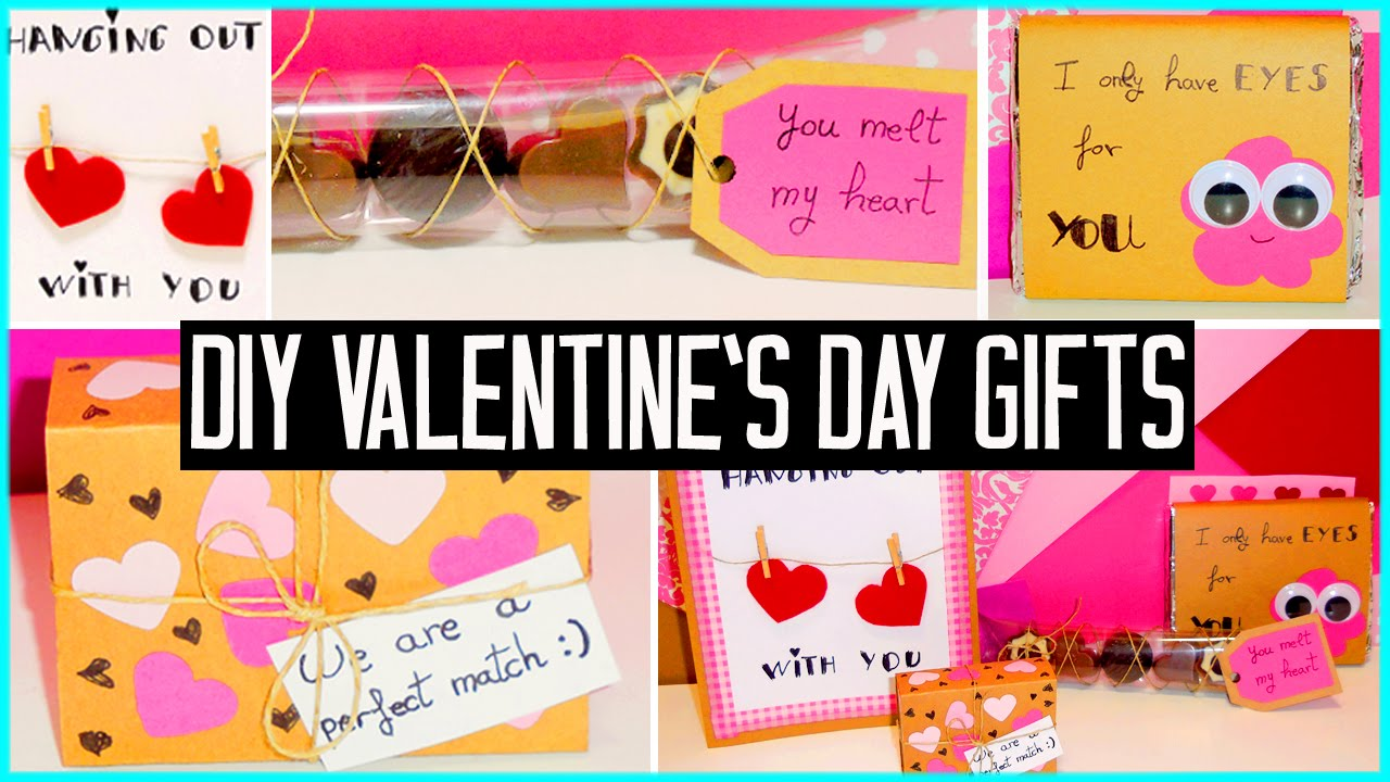 Diy Valentines Day Little Gift Ideas For Boyfriend Girlfriend Family Cute Cheap Youtube