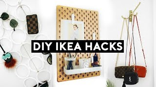 DIY IKEA HACKS! Affordable + Simple Organization! 10 Room Decor Ideas! (2018) | Nastazsa
