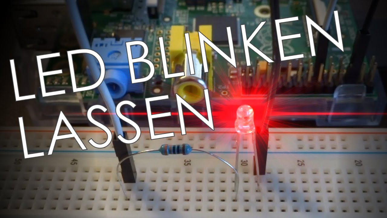 Raspberry pi led mit gpio pins blinken lassen full hd youtube parisarafo Image collections