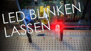 Raspberry Pi :: LED mit GPIO Pins blinken lassen [Full HD]