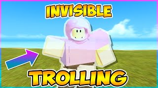INVISIBILITY TROLLING IN BOOGA BOOGA | Roblox