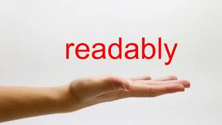 How to Pronounce readably - American English