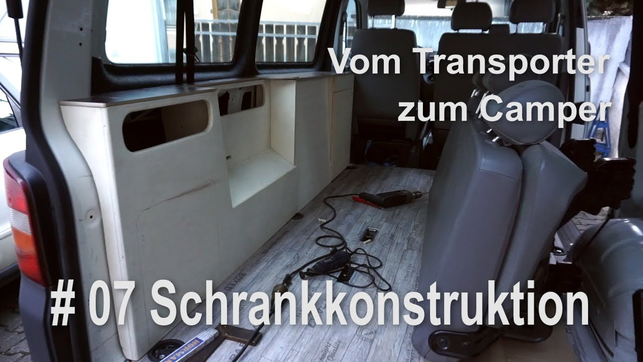 vw t5 vom transporter zum vanlife camper umbau innenausbau. Black Bedroom Furniture Sets. Home Design Ideas
