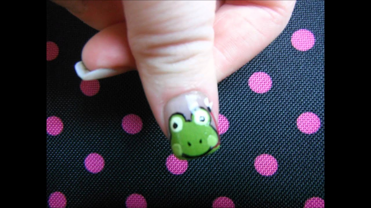Cute frogs nail art design for renierainydays nail art contest cute frogs nail art design for renierainydays nail art contest youtube prinsesfo Choice Image