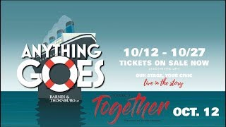 Booth Tarkington Civic Theatre Presents: Anything Goes (0:30 sec)