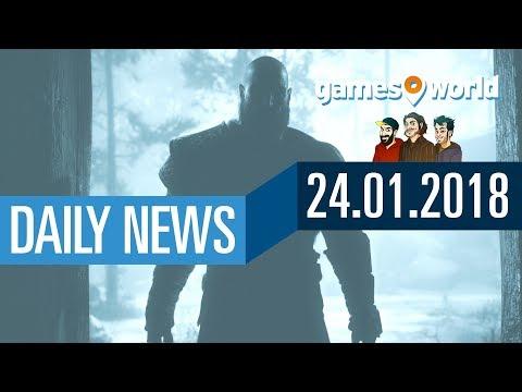 God of War Release, Kingdom Come, Battle.net und PUBG | Gamesworld Daily News - 24.01.2018