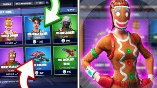 FORTNITE-ALL SKINS OF THE CHRISTMAS EVENT, CRACKSHOT, MARAUDER, GINGER GUNNER!
