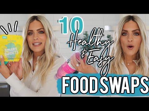 10 HEALTHY FOOD SWAPS   EASY FOOD LIFE HACKS