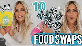 10 HEALTHY FOOD SWAPS | EASY FOOD LIFE HACKS