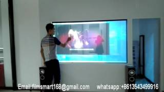 The Intelligent Projection TV Display of Smart Glass