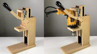 TALADRO DE BANCO CASERO FÁCIL IDEA BRILLANTE - HOMEMADE DRILL PRESS