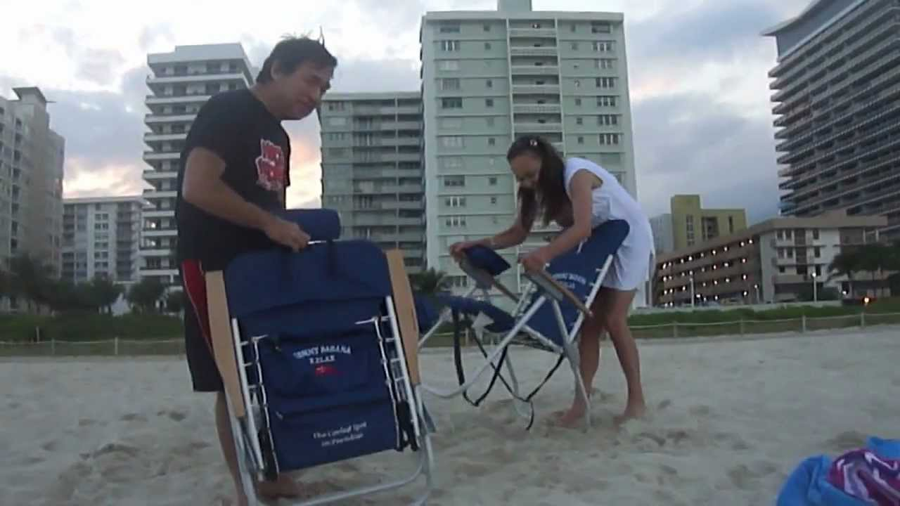 Back Pack Beach Chairs Sofa And Chair Company How To Close A Tommy Bahama's Chair... - Youtube