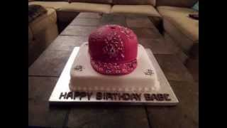 Specialty Cake - Baseball Hat Cake - Bandana Design