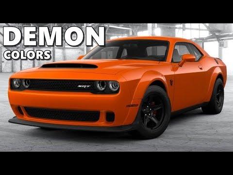 Dodge Demon Colors >> Dodge Challenger Demon All Colors
