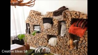 40 Log Wood DIY Creative Ideas 2017 - Log wood home ideas Part.1 -newest house