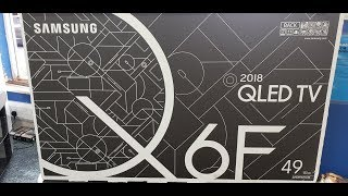 Samsung 2018 Q6, Quick Unboxing QE49Q6FN with setup and demo