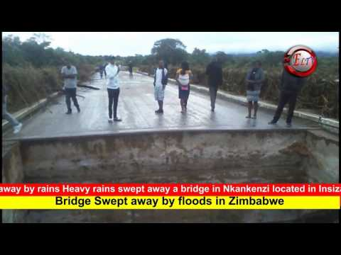 Bridge Swept Away By Floods in Zimbabwe