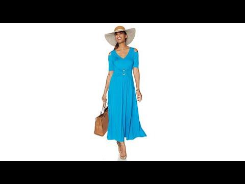 f233d3472 Liz Lange ColdShoulder Ultimate Maxi Dress